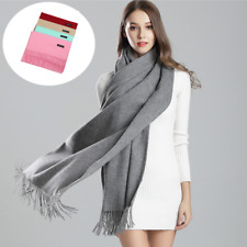 Womens Men XL 100% Cashmere Scarf Scarves Shaw Wrap Winter Warm Soft Wool Luxury