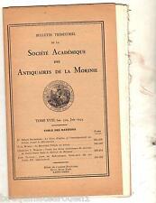 Société Académique des Antiquaires de la Morinie ARTOIS ST OMER REVOLUTION ROI