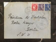 1940 Paris France Service Of POW Cover To Berlin Germany