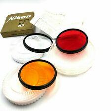 [NEAR MINT]NIKON Color lens filter 52 mm 3 pieces in case RED ORANGE L37