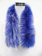 raton laveur fourrure véritable rayures - Col - écharpe 74 cm NEUF G41 à capuche