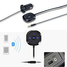 Wireless Bluetooth Car Kit Handsfree 3.5mm Music Receiver Aux Kit Car Charger