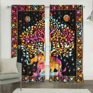 Elephant Wall Mounting Door Window Arched Curtain Tapestry Bohemian Home Decor