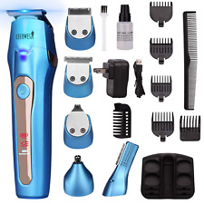 Cool 5In1 Mens Grooming Kit Professional Beard Trimmer Rechargeable Hair Clipper