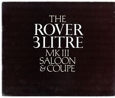 Rover 3-Litre Mk III P5 1966-67 UK Market Sales Brochure Saloon Coupe