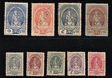 Thailand 9 Revenue Stamps - Used