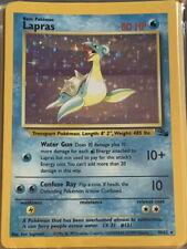 POKEMON Card FOSSIL LAPRAS #10/62 Black Star Rare Holo Foil Shiny Beauty MINT!
