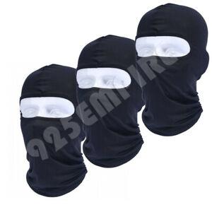 1-10 PCS Men Black Face Mask NINJA Balaclava Cotton Thin Ski helmet liner LOT