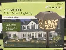 (4) NEW Intermatic Malibu LED Outdoor Solar Yard Landscape Garden Vine Lights