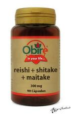 REISHI PLUS + SHITAKE + MAITAKE 300 MG. 90 CAPSULAS. OBIRE / COLESTEROL   OB4085
