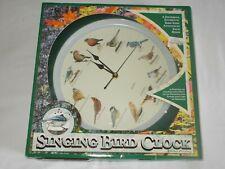 1997 MFA Quartz 12 Singing Birds Clock 13 1/2'' Mark Feldstein TESTED WORKING