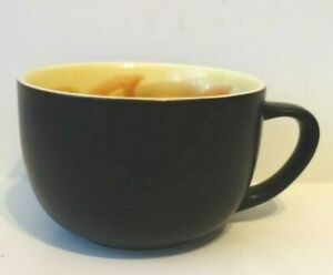 Starbucks 2012 Matte Black Yellow Sunflower Inside Coffee Tea Mug Cup