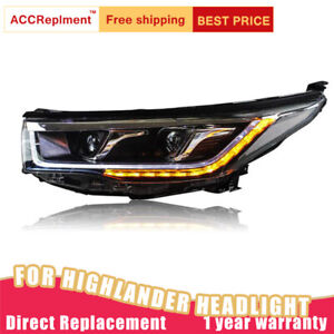 Headlights assembly For Toyota Highlander 2014-2016 led Lens Projector LED DRL