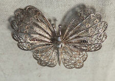 Silberbrosche Brosche Schmetterling filigran Silber 925 Sterlingsilber