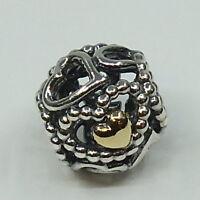Pandora  Element Verbreitete Liebe  .925 Silber/.585 Gold     791372  #  A 20427
