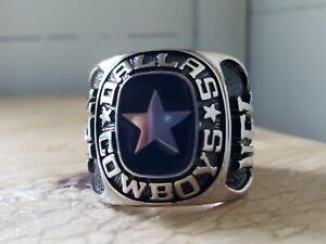 Dallas Cowboys Large Balfour Silvertone NFL Ring Commemorative HUGE
