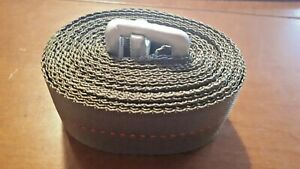 """Cargo Strap, Military Grade, Heavy Duty with Medal Buckle, 16' Long x 1.75"""", New"""