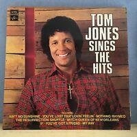 TOM JONES Sings The Hits 1971 UK Vinyl LP EXCELLENT CONDITION best of greatest