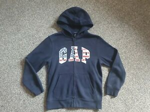 Unisex Grey GAP Full Zip Hoodie/Hoody -  size L -Age 10-11- Excellent Condition