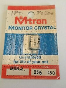 NOS MTRON SCANNER CRYSTAL MRH2 156.450 10.8 IF .039 PINS