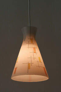 RARE and LOVELY Mid Century Modern PENDANT LAMP Hanging Light DE STIJL Design