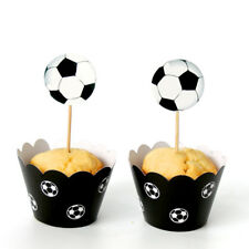 Cups Decoration Bakeware Cupcake Wrapper Food Paper Cake Topper Football Soccer