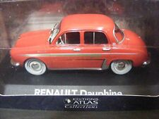 Renault Dauphine Coral Red with Gold Flash Editions Atlas in 1:43rd. Scale