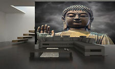 STATUE OF BUDDHA FACE Wall Mural Photo Wallpaper GIANT DECOR Paper Poster