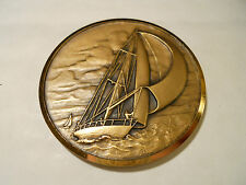 MEDAILLE BRONZE 50mm VOILE YACHT CLUB DE FRANCE