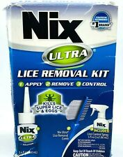 Nix ULTRA Lice Removal Kit - Kills Super Lice & Eggs Hair Bedding with Comb