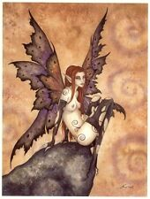 Amy Brown Print Fairy Dark Muse Nude Goth Punk Wings Signed Fantasy Art Exotic