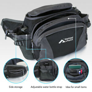 Nomad&Parkit Fanny Pack Waist Bag for Women Men with Water Bottle Holder for Men