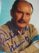"""Autogramm Reinhard Glemnitz 68-75 Inspektor Heines in """"Der Kommissar"""" Bambi"""