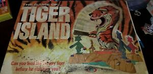 The Game of Tiger Island Ideal Toys 1966 in original box Family Board Game FUN