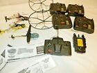 AIRHOGS Lot Of 10 Pcs Helicopters, Remote Controls, E-Charger, FOR PARTS