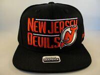 New Jersey Devils NHL Reebok Snapback Hat Cap Black