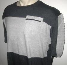 NEW 3XB ECKO UNLTD MENS T SHIRT Tee Charcoal Gray Grey Zipper Pocket 3XL 3X