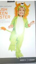 PLUSH GREEN MONSTER HOODED JUMPSUIT COSTUME  INFANT (12-24 MONTHS)
