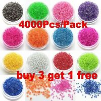 4000PCS 2mm Czech Glass Seed Spacer beads Jewelry Making DIY 22 Color Free P&P