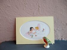 vintage illustration of girl and baby by Janet Laura Scott 1935