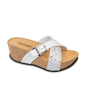 VALLEVERDE G51415 Sandalen ciabatte Keilabsätze Frau Haut Reißen