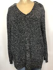 Michael Kors Grey Oversized Knit Sweater Womens Size XL Casual Cotton Top