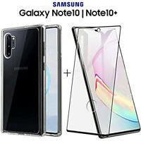 COVER per Samsung Galaxy Note 10 / Plus + PELLICOLA VETRO TEMPERATO CURVO 5D