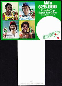 1981 Feelin' 7UP Soda Bottle Carton Insert Cards  5 Different -  Magic - Schmidt