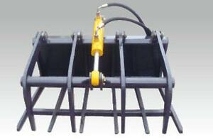 Hydraulic rock grab grapple attachment suit mini digger and mini loader