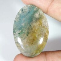 100% NATURAL Green & Red Moss Agate Transparent Oval Cabochon Loose Gamstone C26