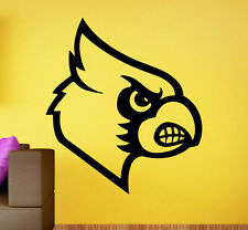 Louisville Cardinals Vinyl Logo Decal Sticker Sport Home Art Decor NCAA Football