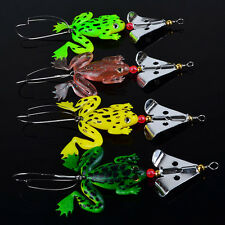 "4pcs Rubber Frog Soft Fishing Lures Bass CrankBait Sinking 8cm 3.54"" 6.2g Tacket"