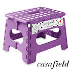 """9"""" Collapsible Folding Plastic Kitchen Step Foot Stool w/ Handle - Adults/Kids"""