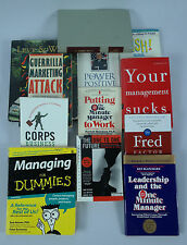 Lot of 12 Retail/Restaurant Management Books One Minute Manager/Dummies, ETC